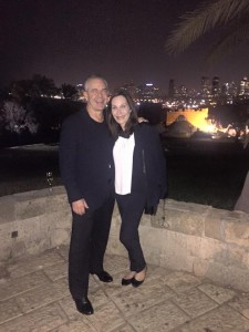 David and Robin Sackman in Israel