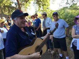 Cantor Doug Cotler Leading Shabbat Hike singing