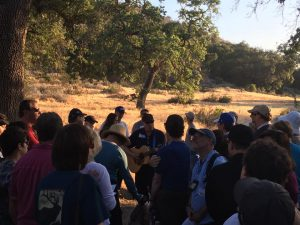Cantor Doug Cotler and Group on Shabbat hike