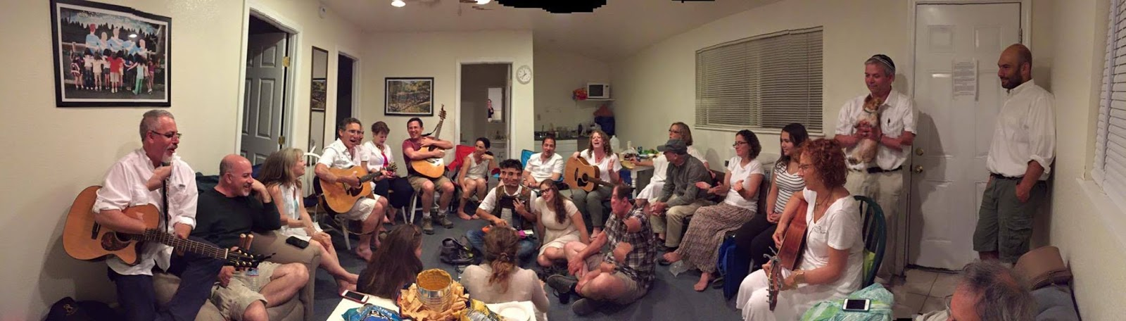 Faculty Shabbat Song Session at Camp Newman