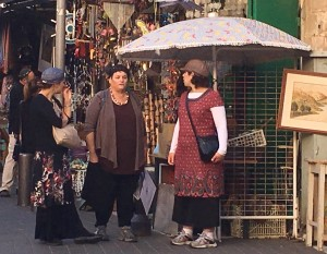 Women talking in Jaffa