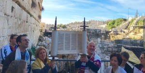 Holding Torah at Kotel