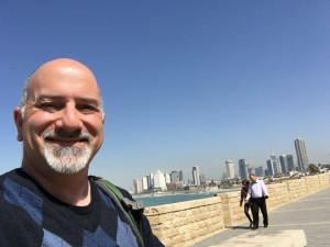 Me at Jaffa Port with Tel Aviv Skyline